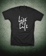 opus produkt shirt live is life